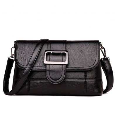 Women Fashion Single Shoulder Satchel with Magnetic Snap black