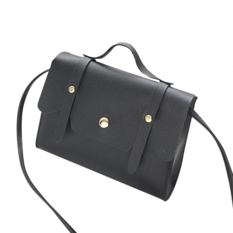Women Solid Color Zipper Shoulder Bag