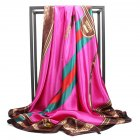 Women Fashion Vivid Color Muslim Style Smooth Scarf