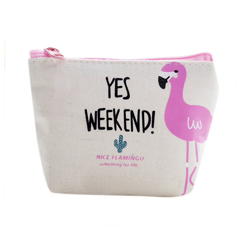 Flamingo Zipper Phone Bag Pencil Case