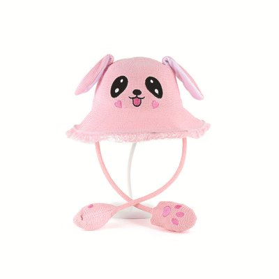 order online quite nice reliable quality Women Girl Cute Bunny Ears Hat Jumping Ear Summer Sunscreen Straw Hat