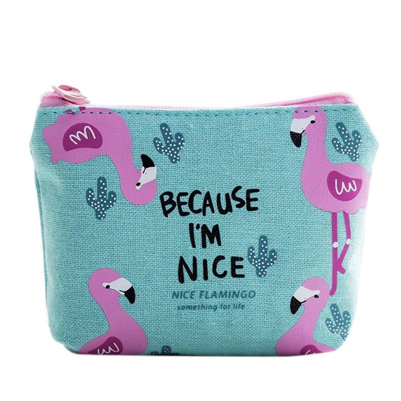 Girls Women Change Coin Canvas Purse Mini Zipper Wallet Key Holder Pouch Cute