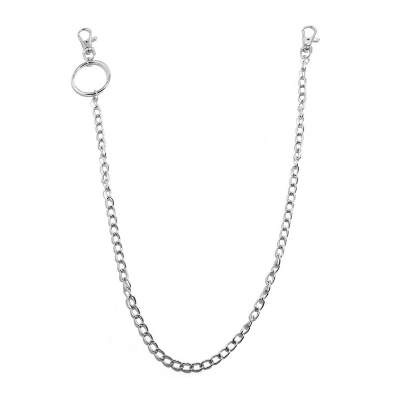 Women Hip-hop Punk Style Metal Chain Show Performing Waist Chain Jeans Chain Pendants 1 layer