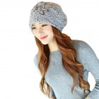 Women Hollow Lace Flower Slouchy Beanie Hat Chemo Turban Cap