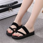 Women Home Anti-slip Foam Sole Comfortable Flat Heel Fashion Slipper black_41/25.5CM