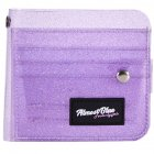 Women ID Bank Card Bag Transparent PVC Credit Business Card Holder Organizer with Landyard purple