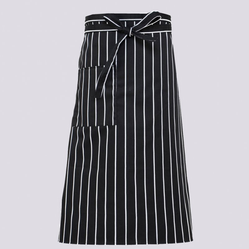 Women Kitchen Antifouling Chef Apron for Hotel Restaurant Cooking Striped half body