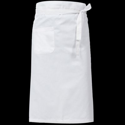Women Kitchen Antifouling Chef Apron for Hotel Restaurant Cooking White half body