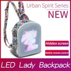 Women LED Display Screen Backpacks Smart WIFI Version Control Light Screen Women Bag printing