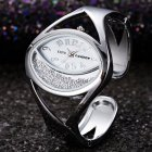 Women Ladies Fashion Silver Luxury Rhinestone Bracelet Watch Wristwatch white