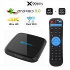 X99 Play Smart TV Box Android 9.0 4GB 64GB Wireless IPTV Box 4K USB Set Top Box 5G WiFi Netflix Youtube Google Play PK H96 MAX black_European regulations