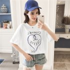 Women Loving Heart Letters Printing Summer Short Sleeve T shirt