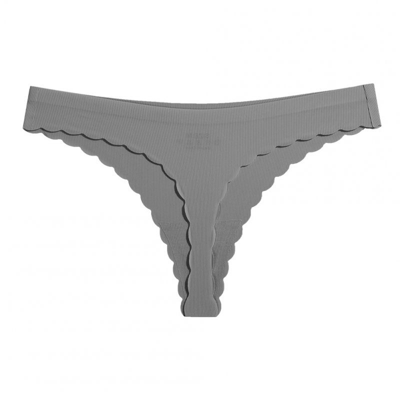 Women Low Waist Briefs Sexy G-String Underpants for Adults Grey_L