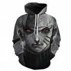 Women Men 3D Japan Anime Character Digital Printing Hoodie Pullover Gray Naruto S
