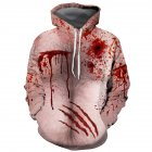 Women Men Fashion 3D Chest Hair Bloodstain Printing Hooded Sweatshirts for Halloween XSF0312_S
