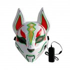 Women Men LED Luminous PVC Mask for Carnival Dance Ball Halloween Christmas 20*24 Grass green