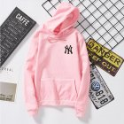Women Men Loose Long Sleeve Casual Sports Fleece Sweatshirts Coat Pink_XL