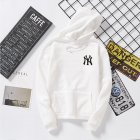 Women Men Loose Long Sleeve Casual Sports Fleece Sweatshirts Coat white_L