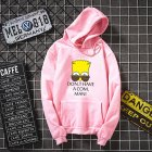 Women Men Lovers Hooded Cartoon Simpson Pattern Hooded Sweatshirt Pink_XL