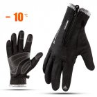 Women Men Sports Warm Thermal Windproof Ski Snow Motorcycle Snowboard Gloves black_M