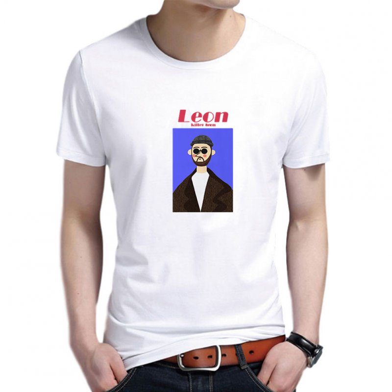 Women Men T Shirt Fashion Loose Short Sleeve Tops for Couple Lovers White male_L