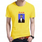 Women Men T Shirt Fashion Loose Short Sleeve Tops for Couple Lovers Yellow male L
