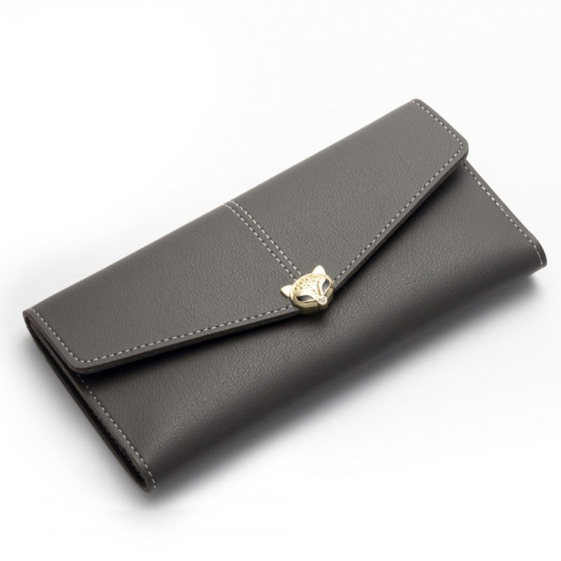 Women PU Leather Wallet Female Long Purse Hasp and Zipper Card Holders Ladies Money Coin Cluth Bag