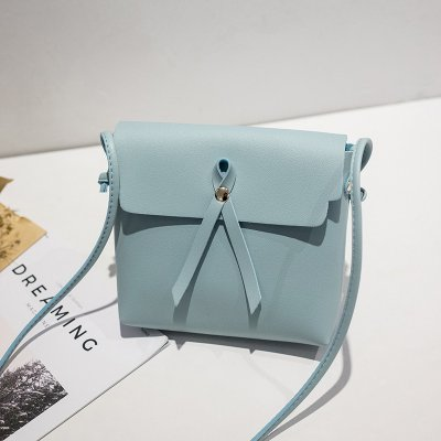 Women Single-shoulder Leisure Simple Retro Suqare Shape Bag blue