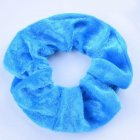 Women Solid Color Elastic Hair Bands Tie Rope for Hairdressing blue