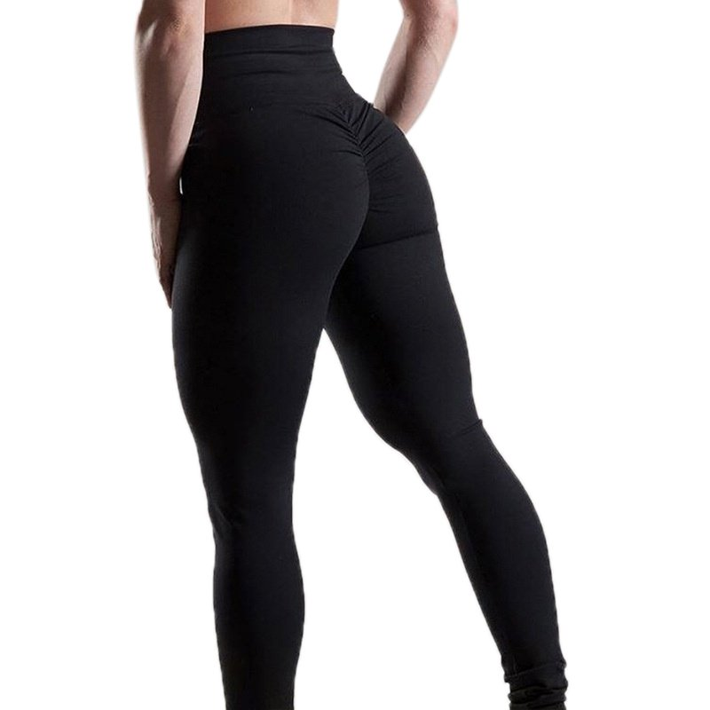Girls High Waist Yoga Stretched Pants black_S