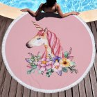 Women Stylish Round Beach Sun-screen Scarf Simple All-match Shawl Tippet Party Costume Decoration Scarf