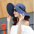 Women Summer All Matching Breathable Foldable Straw Cap