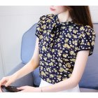 Women Summer Short Sleeve Chiffon Shirt