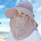 Women Summer Large Brim Sun Hat UV Protection Folding Mask Breathable Hat Light coffee