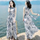 Women Short Sleeve A-line Long Dress