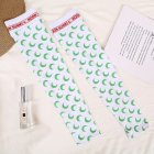 Women Summer Sun-protective Sleeve Female Crescent Moon Pattern Sunscreen Oversleeve Sport moon green_One size