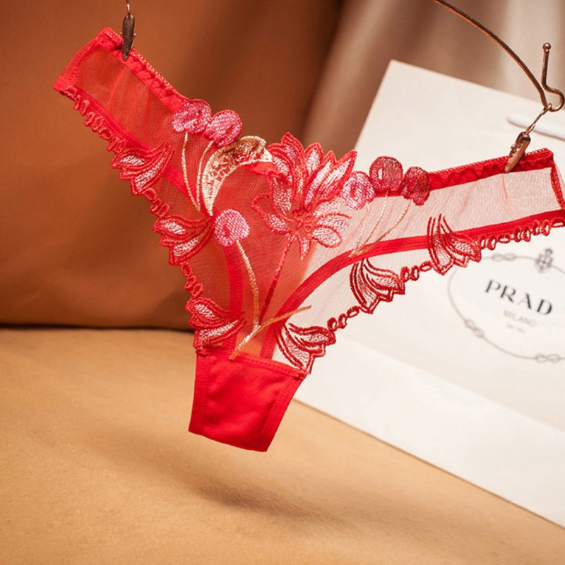 Women Underwear Sexy Thongs G-string Lingerie Underwear Panties Briefs For Ladies T-back red