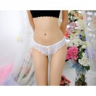 Women Underwear Super Sexy Lace Thin G String Underwear Lady Thongs T-back white_One size