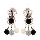 Women's Bohemia Retro Long Earring National Style Pompon Tassels Ear Pendants Valentine's Day Gift