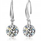 Women's Long Earrings Diamond-mounted  Alloy Hook Drop Earrings sku4363