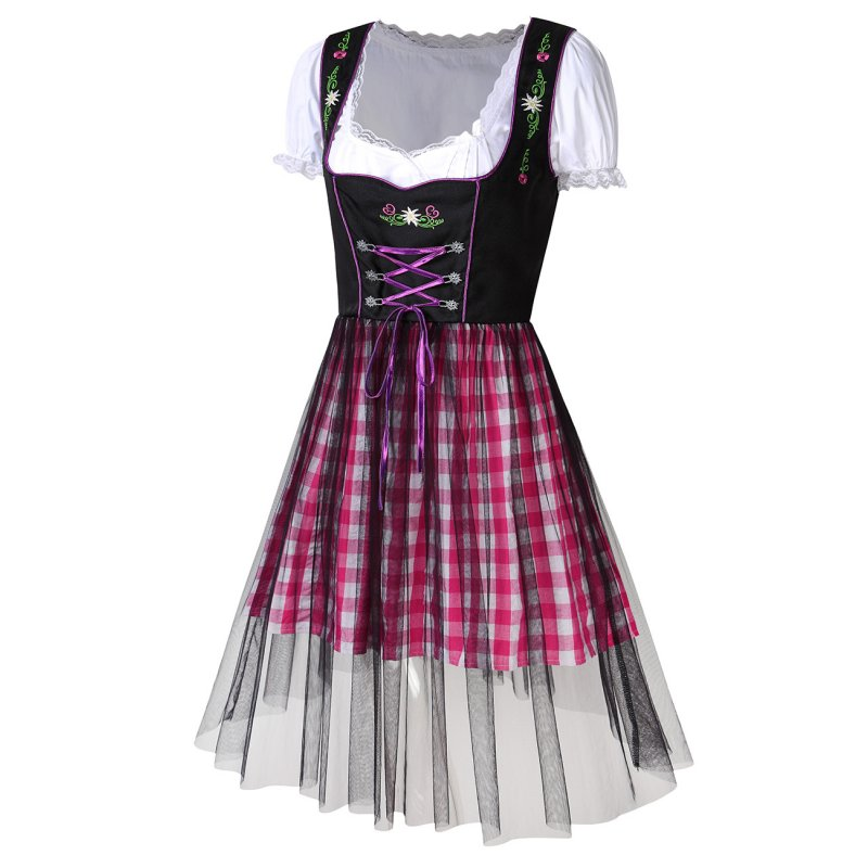 Women's Oktoberfest Dresses Suit - Purple L