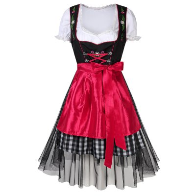 Women's Oktoberfest Dresses Suit - Red 42