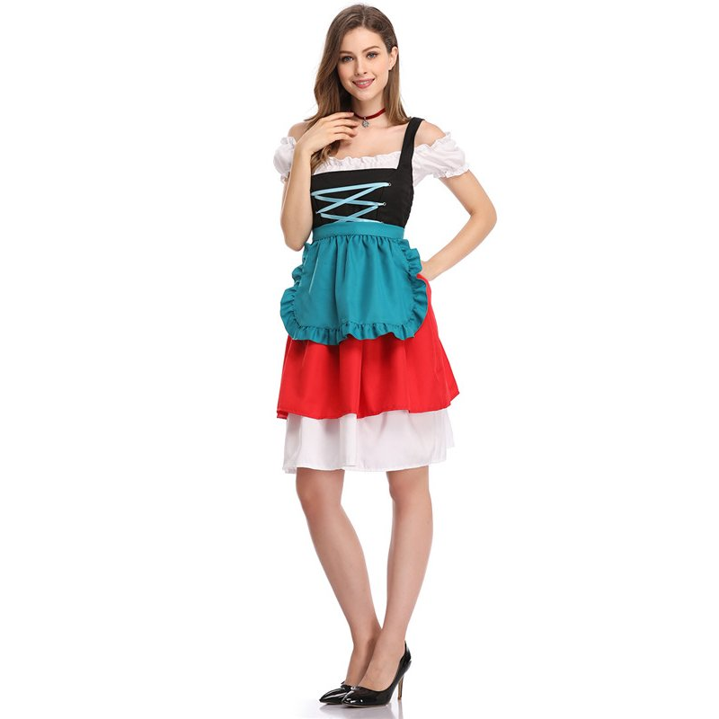 Women's Retro Color Block Stylish Dress Suit
