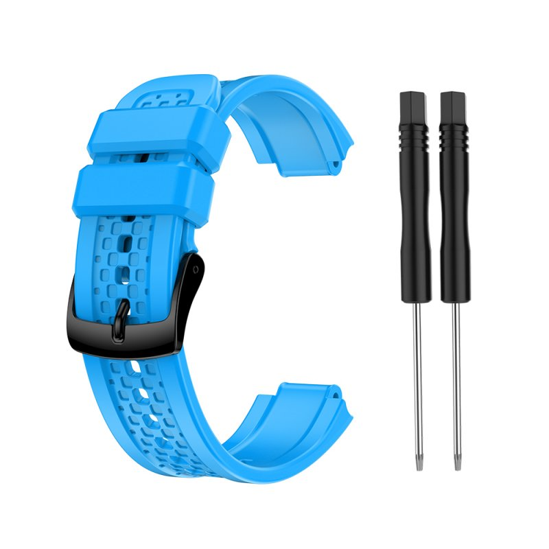 Women's Silicone Wristband Large Size Replacement Wristband for Garmin Forerunner 25 blue
