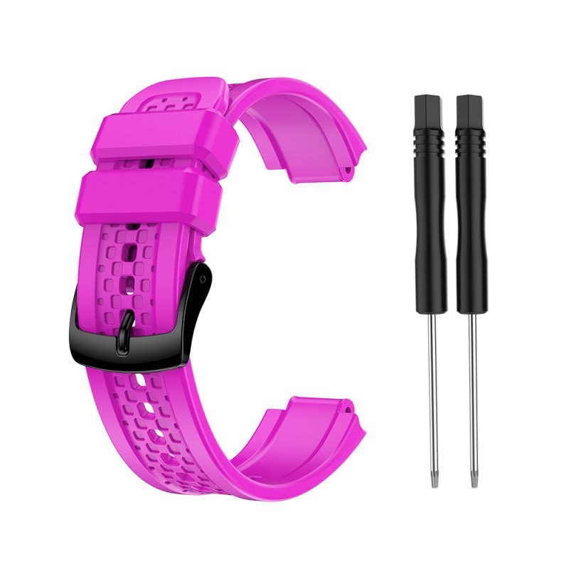 Women's Silicone Wristband Large Size Replacement Wristband for Garmin Forerunner 25 purple