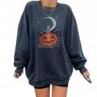 Women's Sweatshirts Autumn Casual Printing Pullover Sweatshirt pumpkin_XL