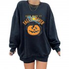 Women's Sweatshirts Autumn Casual Printing Pullover Sweatshirt Alphabet Pumpkin_2XL