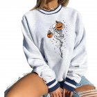 Women's Sweatshirts Autumn Casual Printing Pullover Sweatshirt 2 pumpkins_XL