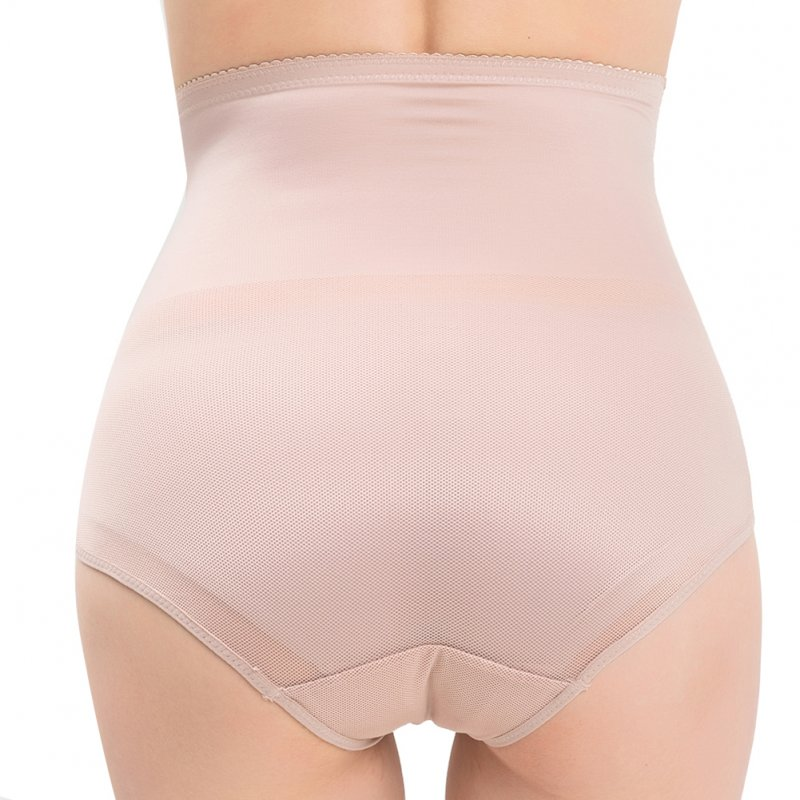 Women's Underpants High-waisted Hip-lifting Shaping Breathable Waist-binding Shaping Underwear apricot_L