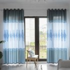 Wood Grain Shading Window Curtain for Home Living Room Bed Room Decoration blue_1 * 2.7 meters high